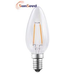 Lampada Candela SunSeed 2W a Filamento LED E14 Luce Calda 2700K