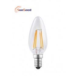 Lampada Candela SunSeed 4W a Filamento LED E14 Luce Calda 2700K