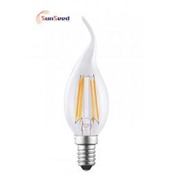 Lampada Colpo di Vento SunSeed 4W a Filamento LED E14 Luce Calda 2700K