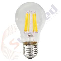 SunSeed Lampadina 8W E27 Goccia a Filamento LED in Zaffiro Sintetico Luce Calda 2700K