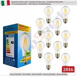 10 X Lampada Goccia SunSeed 8W a Filamento LED E27 Luce Naturale 4000K