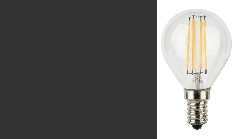 LampadIne Sferetta E14 a Filamento LED in Zaffiro Sintetico