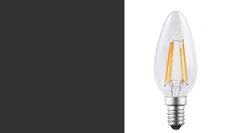 SunSeed Lampada 4W E14 Candela a Filamento LED Luce Calda 2700K