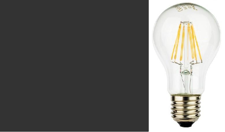 LampadIne Goccia E27 a Filamento LED in Zaffiro Sintetico