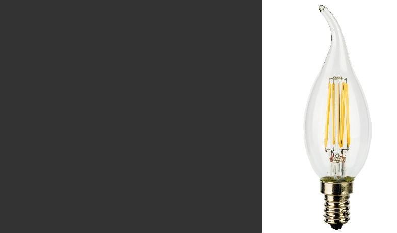 LampadIne Colpo di Vento E14 a Filamento LED in Zaffiro Sintetico